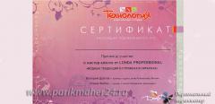 Сертификат Модные тенденции в стрижках и окрасках, LONDA, 2009 г.